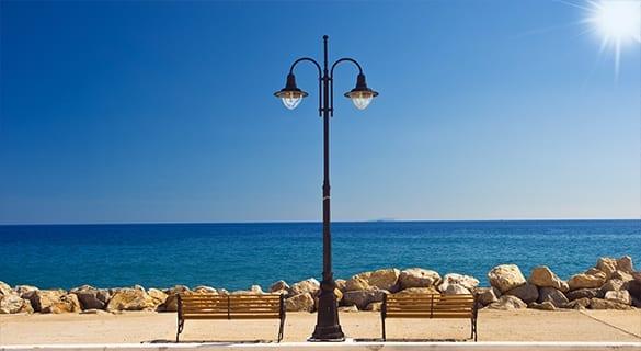 Gouves beach road