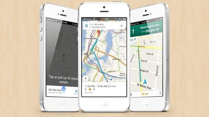 iphone with gps navigation software