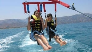 Parasailing in Chania