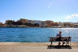 Chania Bench in the Port