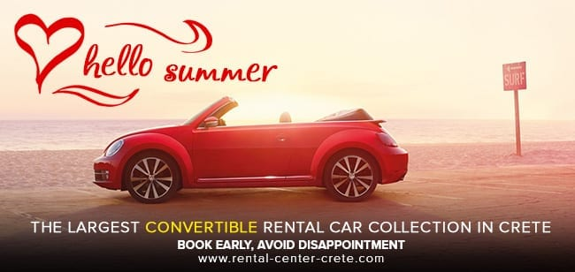 The largest convertible car rental collection in crete
