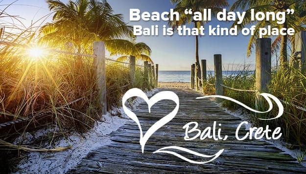 Bali Beach: Stay all day long in Bali Crete