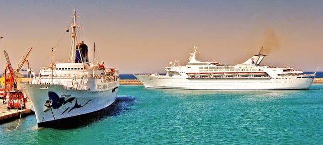 Cruise ships at Heraklion Port