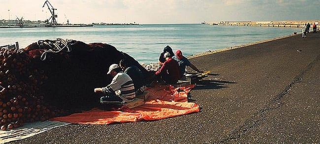 Local Fishermen at the Marina of Heraklion