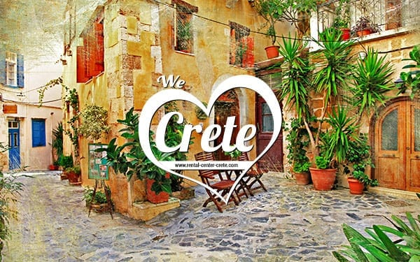 Wallpaper of Crete - Chania Old Town Alley