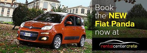 Book The New Fiat Panda in Crete