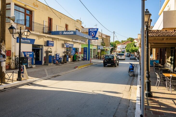 a Petrol Station in Crete
