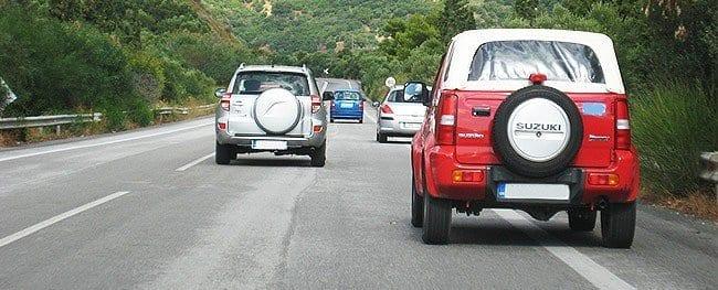 Pasy dróg na Krecie