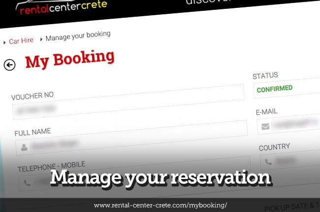 Manage your reservation
