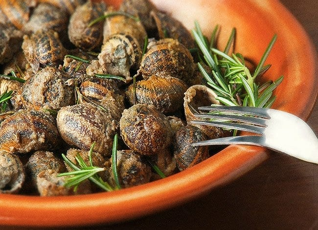 cretan fried snails
