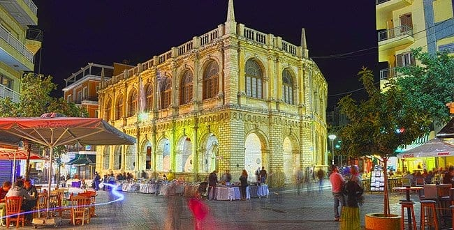 Loggia Building currently hosts the Town Hall of Heraklion