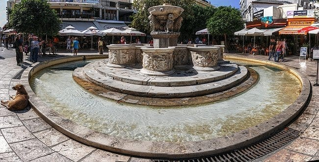 Morozini Fountain in Lion Square Heraklion