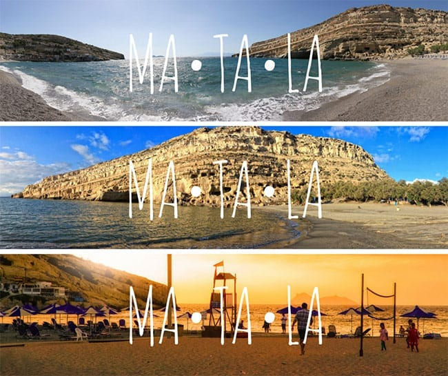 Discover Matala: Then and Now