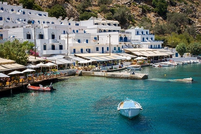 The little port in Loutro