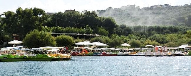 Paddle Boats in Kournas Lake