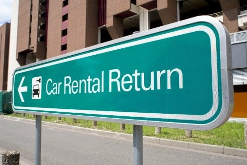 Car Rental Return Sign