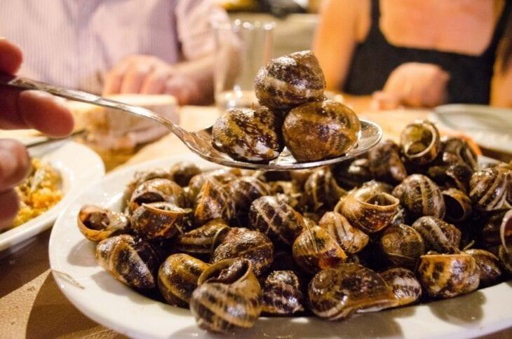 Smażone ślimaki