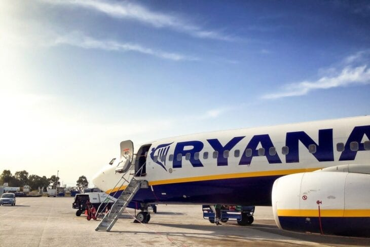 Departing from Chania Airport with Ryanair