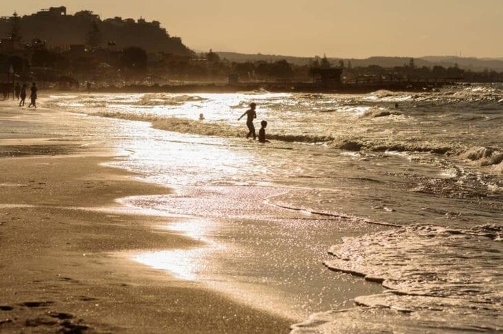 Agia Marina Crete beach 2