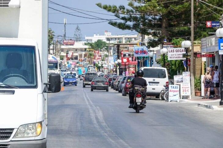 Agia Marina Kreta hoofdstraat