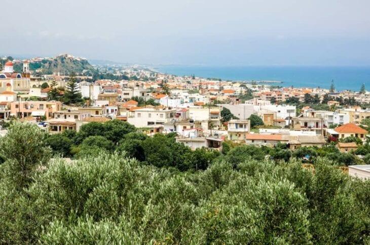 Agia Marina Kreta uitzicht op zee