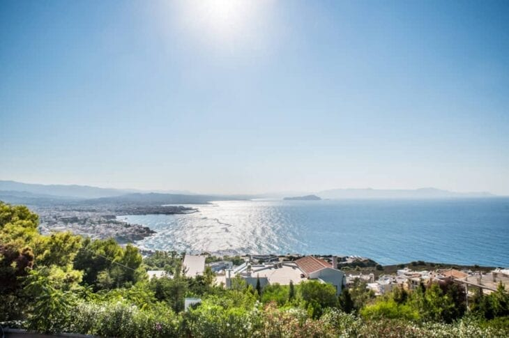 Agia Marina Crete - View from the hill