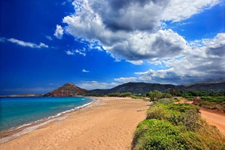 Spiaggia di Kouremenos vicino Sitia