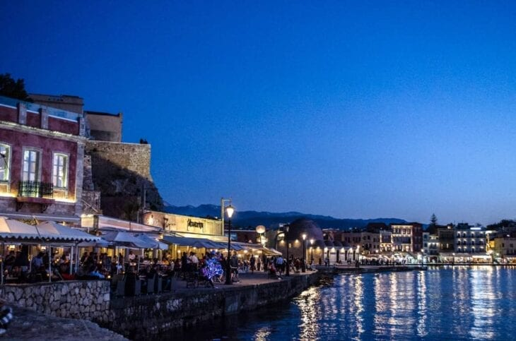 Chania at Night width=