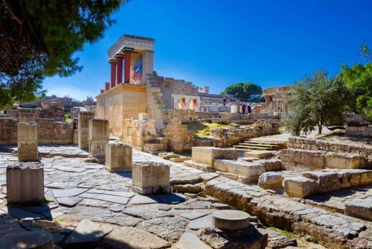Noordelijke ingang in Knossos Palace