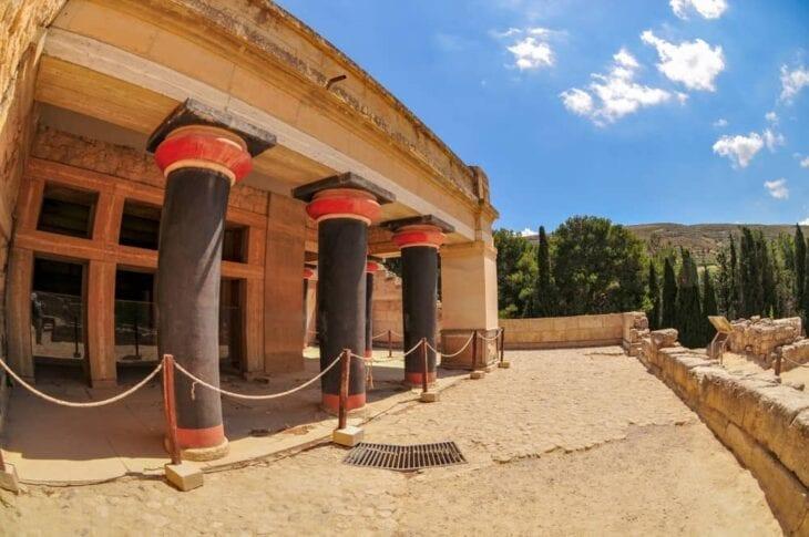 Ruines du palais de Cnossos en Crète