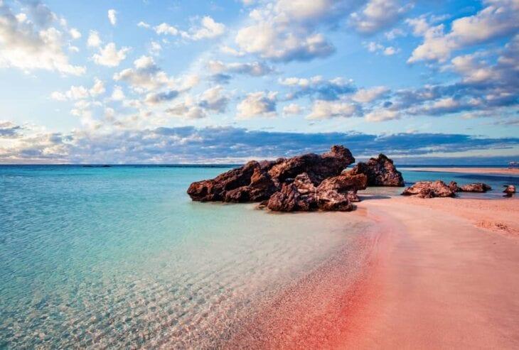 Pink beach elafonissi