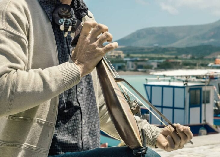Cretan playing the lyra
