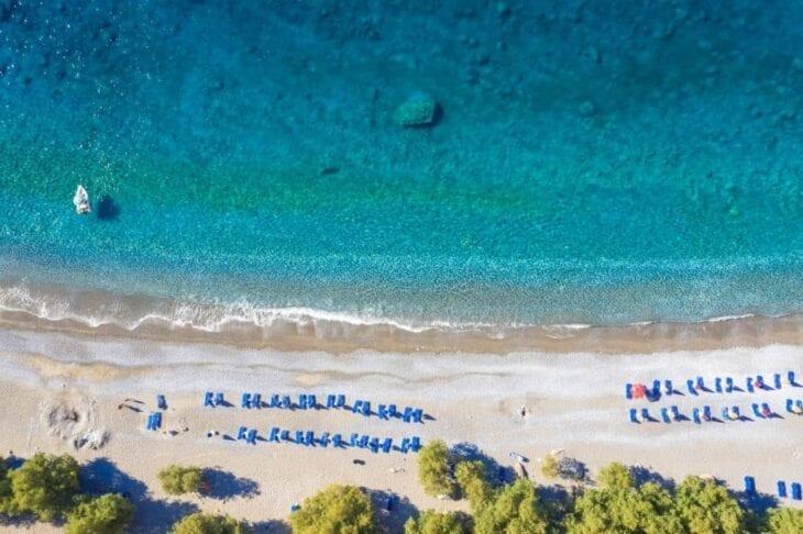 Plaża dla naturystów na Krecie