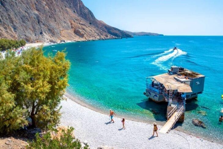 Remote beach in Crete
