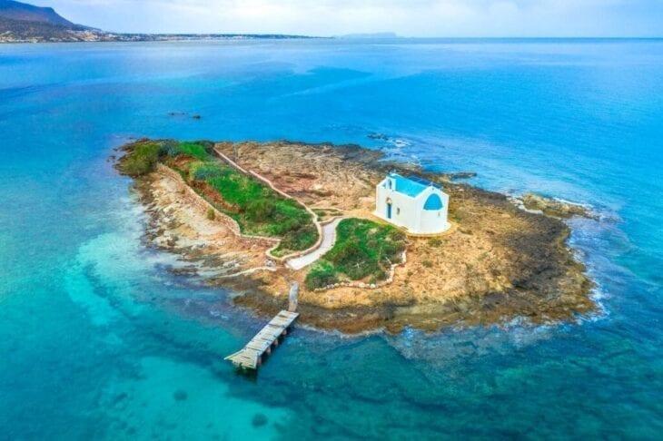 Church island in Malia