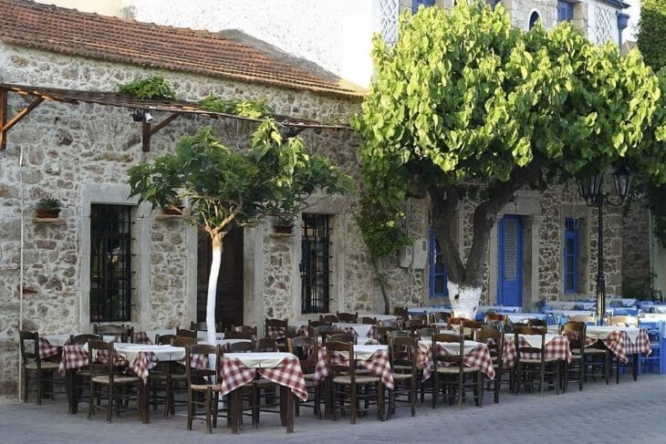 Greek Tavernas in Chersonissos Old Town
