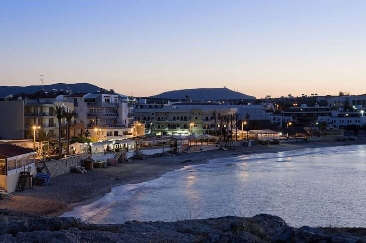 Port if Chersonissos at twilight