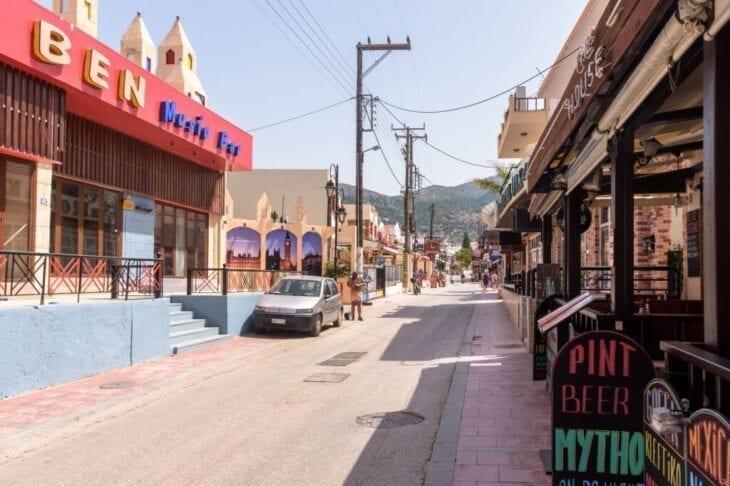 Street view in Malia