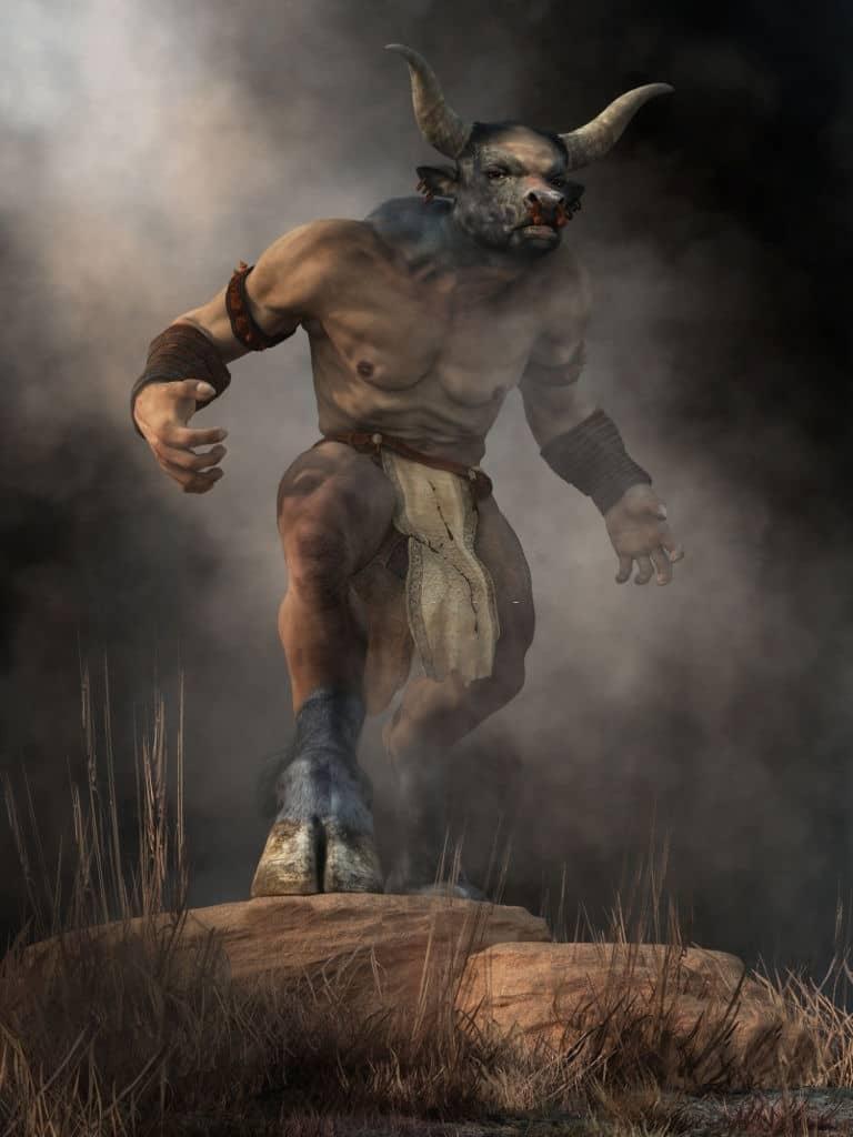 Minotaur was a half man half bull - art