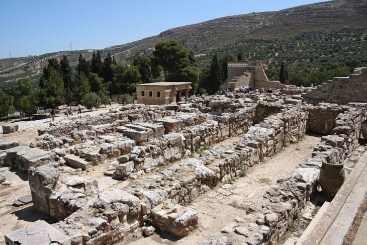Knossos Palace ruins in Crete