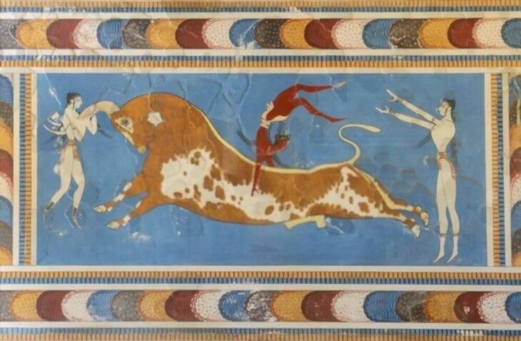 Fresque du Minotaure