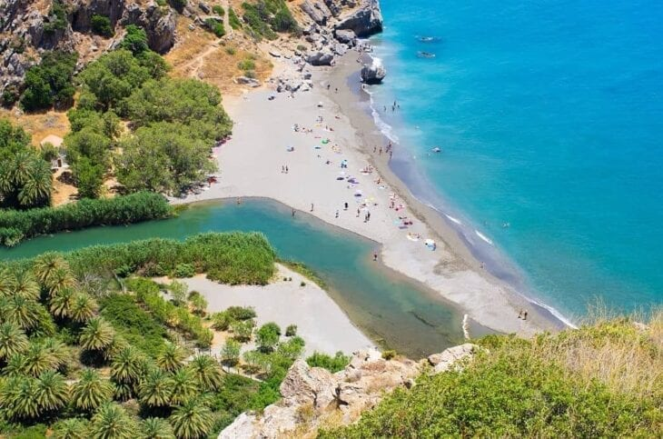 Preveli Palm Beach on Crete