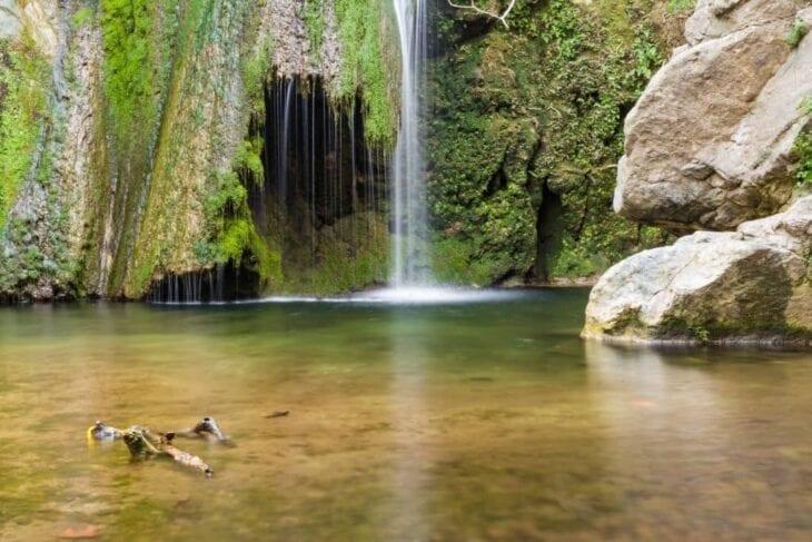 Wodospad w wąwozie Richtis