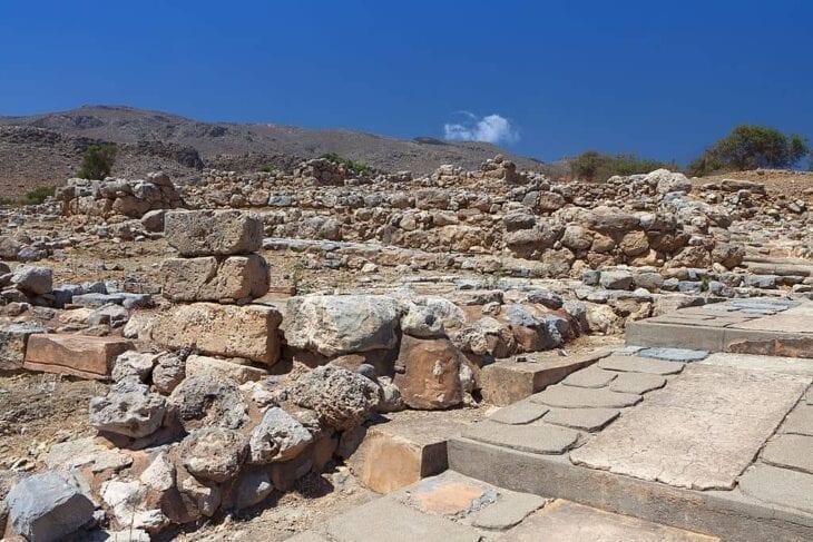 Ruines du palais minoen de Zakros