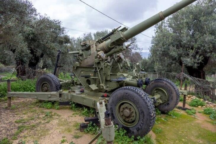 Anti-aircraft gun at Second war museum of Platanias Crete