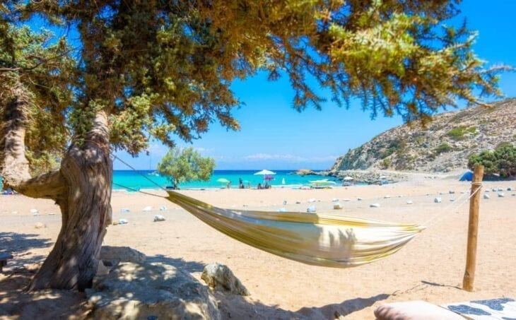 Beach of Sarakiniko on Gavdos Island