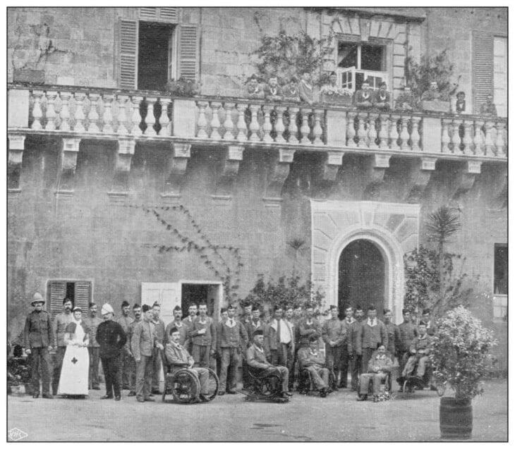 blessés de l'armée et marine britannique en Crète
