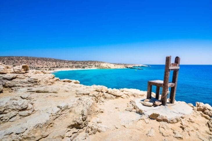 Giant Wooden Chair as the Southern point of Gavdos