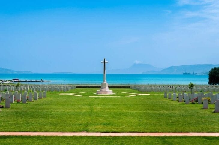 Monument at Souda bay war cemetery