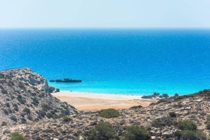 Spiaggia tropicale di Tripiti a Gavdos